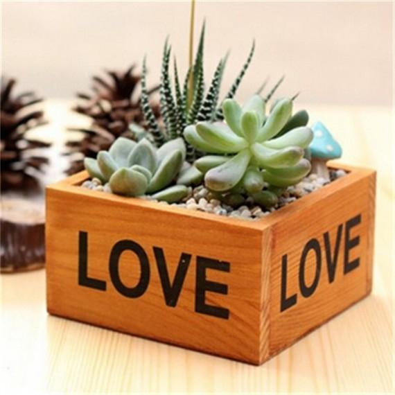 Love square flowerpot - 1