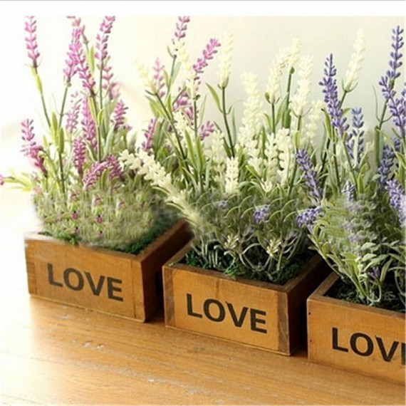 Love square flowerpot - 4