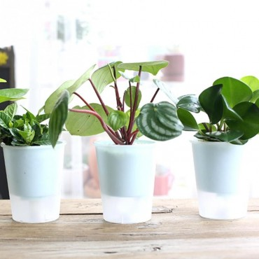 Plastic pot with automatic watering system - 6