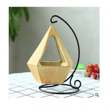 Pot hanging from its wrought iron pendant - 5