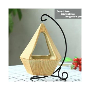 Pot hanging from its wrought iron pendant - 8