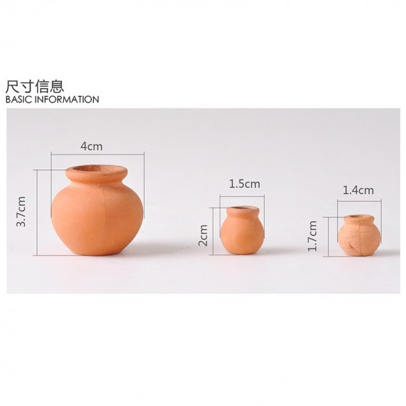 Mini pot en céramique imitation terre cuite - 2