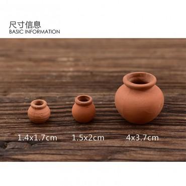 Mini pot en céramique imitation terre cuite - 6