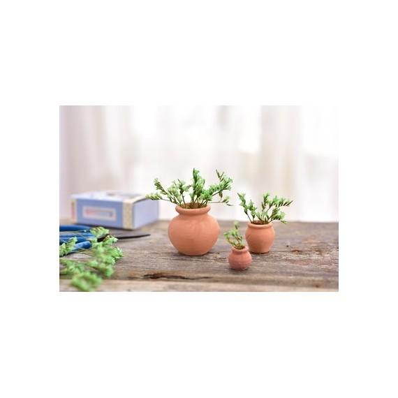 Mini pot en céramique imitation terre cuite - 8