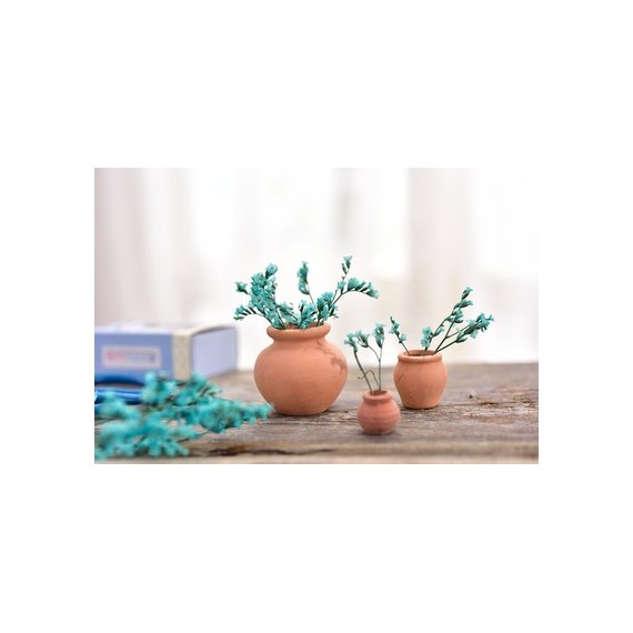 Mini pot en céramique imitation terre cuite - 9