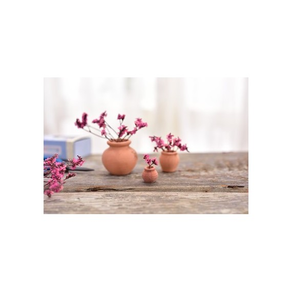 Mini pot en céramique imitation terre cuite - 10