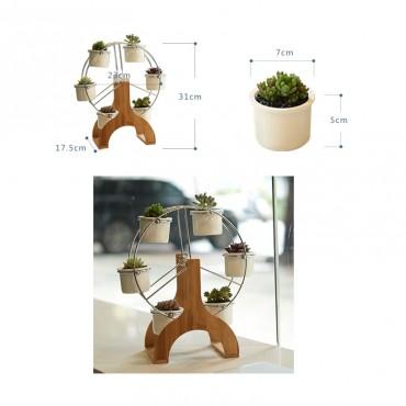 Ferris wheel and 6 ceramic pots set - 2