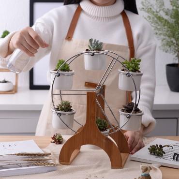 Ensemble grande roue et 6 pots en céramique - 3
