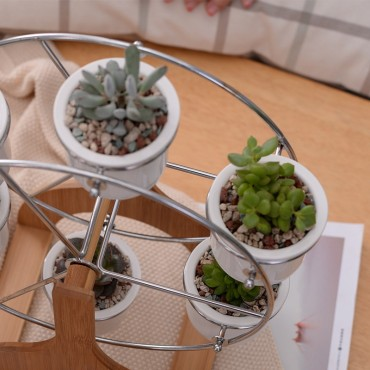 Ensemble grande roue et 6 pots en céramique - 4