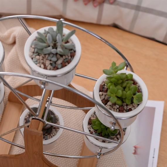 Ferris wheel and 6 ceramic pots set - 4