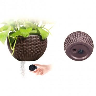 Pot suspendu rond avec auto-arrosage - 5