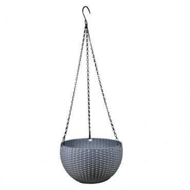 Pot suspendu rond avec auto-arrosage - 8