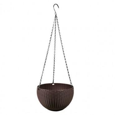 Pot suspendu rond avec auto-arrosage - 9