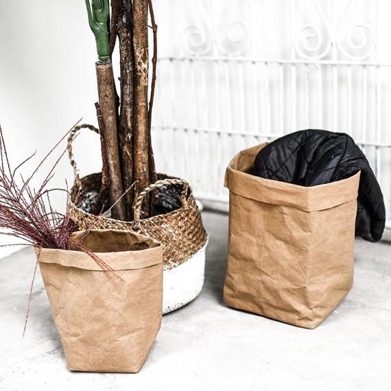 Cache-pot sac en papier lavable - 7 couleurs - 2