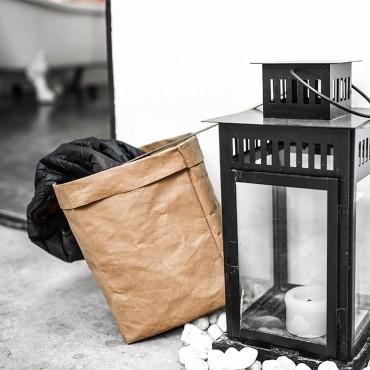 Cache-pot sac en papier lavable - 7 couleurs - 5