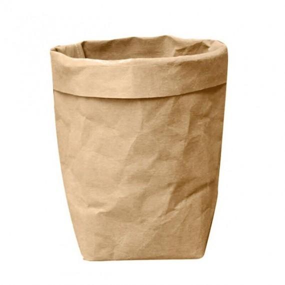 Cache-pot sac en papier lavable - 7 couleurs - 8