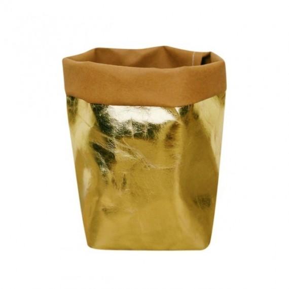 Washable paper bag plant pot - 7 colors - 9