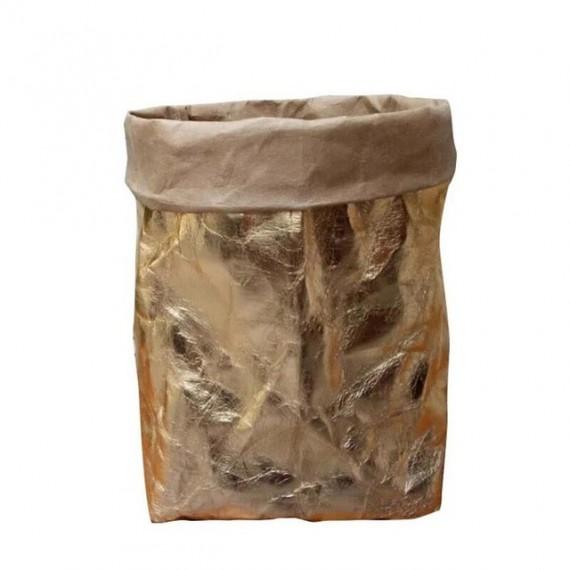 Cache-pot sac en papier lavable - 7 couleurs - 11