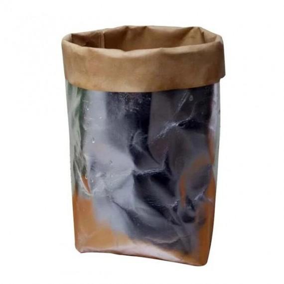 Cache-pot sac en papier lavable - 7 couleurs - 12