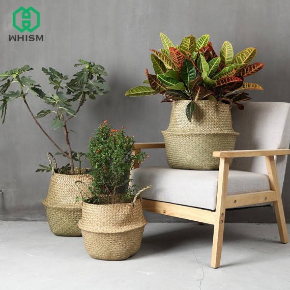 Color foldable wicker basket - 1