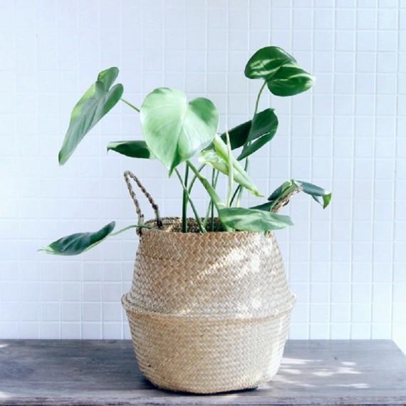 Color foldable wicker basket - 4