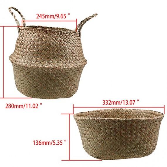 Color foldable wicker basket - 9