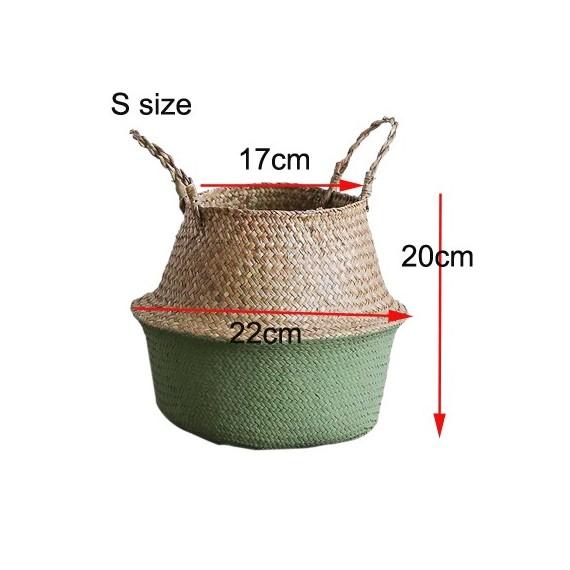 Color foldable wicker basket - 10