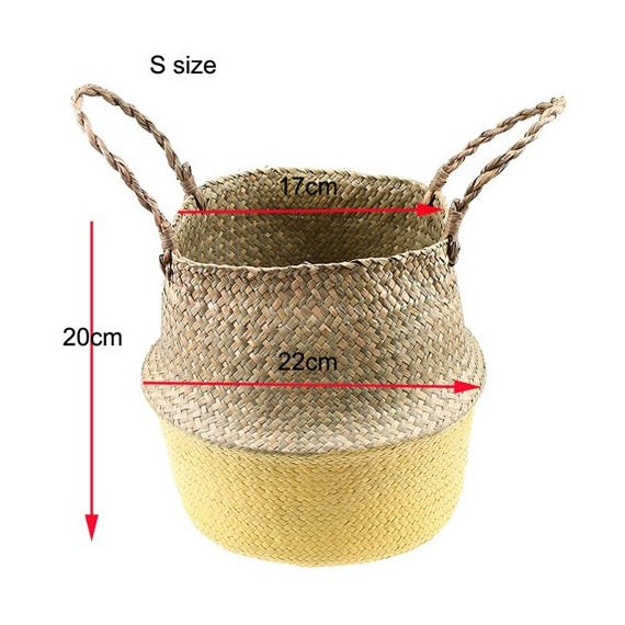 Color foldable wicker basket - 11