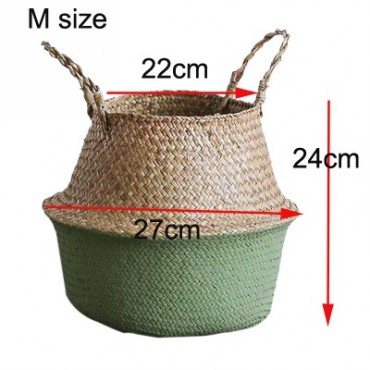 Color foldable wicker basket - 12