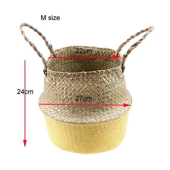 Color foldable wicker basket - 13