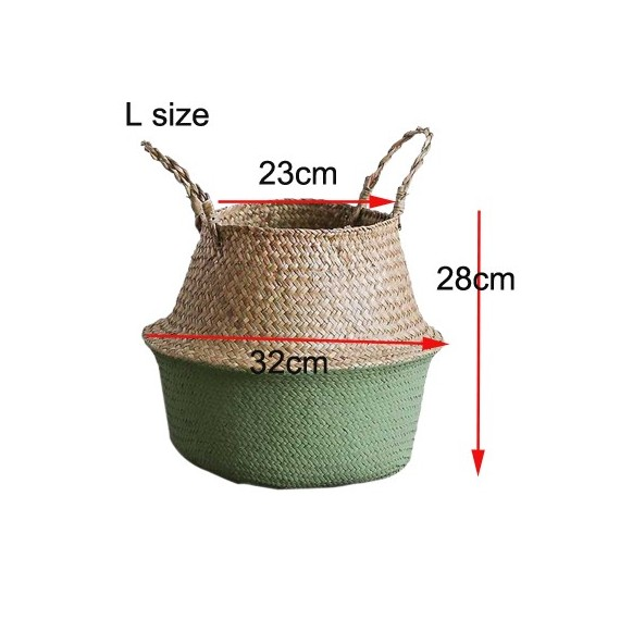 Color foldable wicker basket - 14