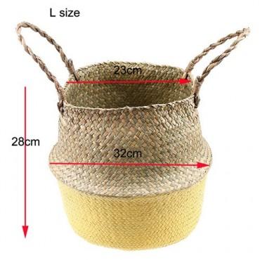 Color foldable wicker basket - 15