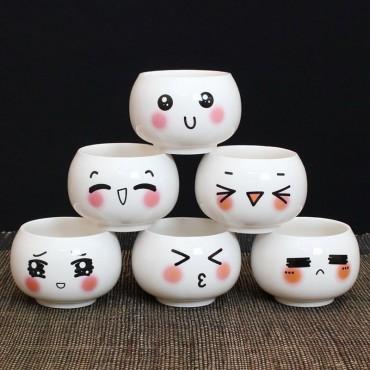 """Pots """"expression de visage"""" - 2"""