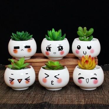 """Pots """"expression de visage"""" - 4"""