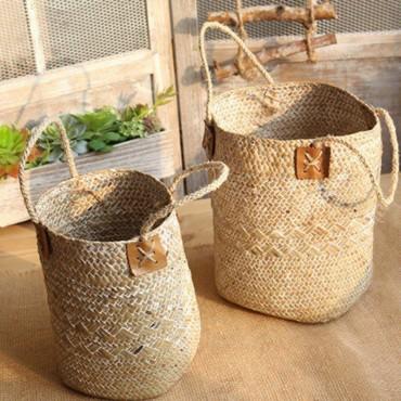 Large bohemian wicker basket - 5