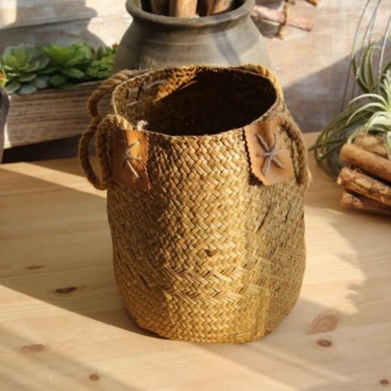 Large bohemian wicker basket - 6