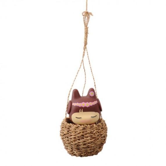 Large bohemian wicker basket - 7