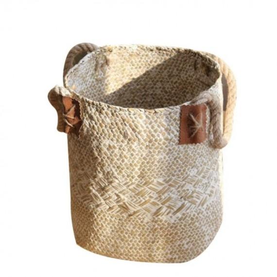 Large bohemian wicker basket - 8