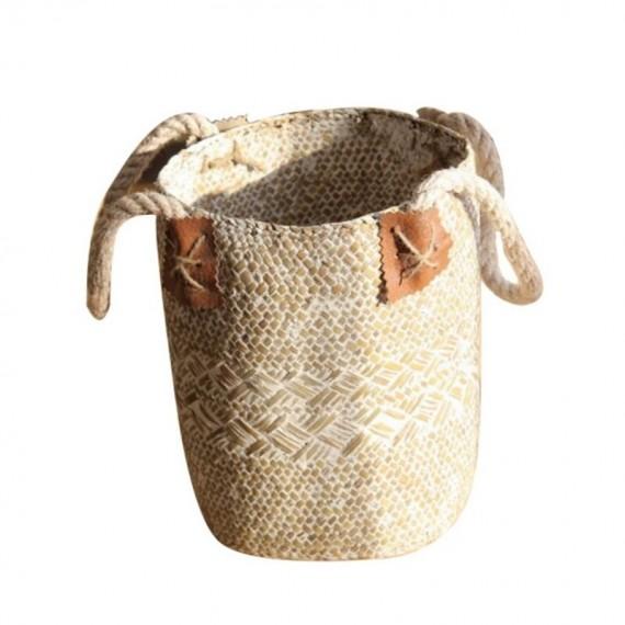 Large bohemian wicker basket - 9