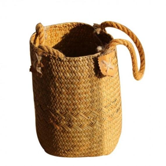 Large bohemian wicker basket - 11