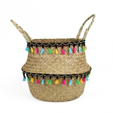 "Colored wicker ""Samba"" basket - 1"