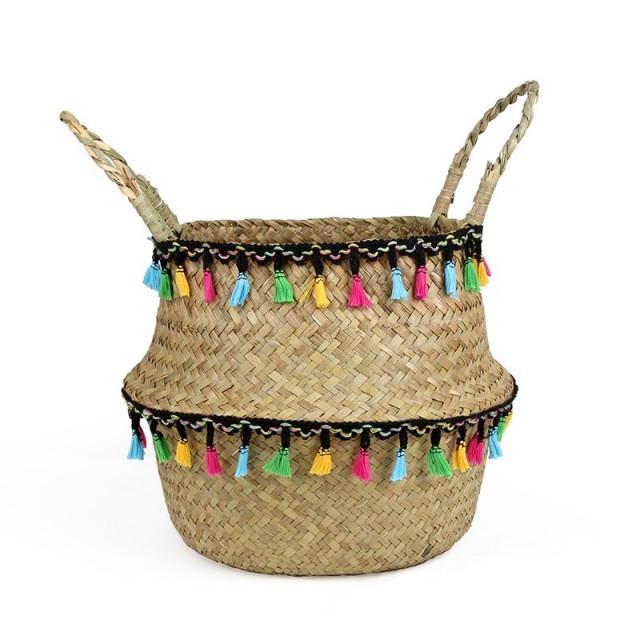 """Panier """"Samba"""" coloré en osier - 1"""