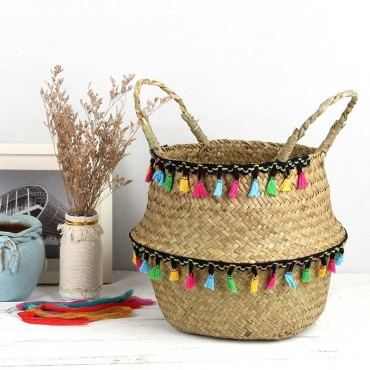 "Colored wicker ""Samba"" basket - 2"