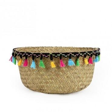 "Colored wicker ""Samba"" basket - 3"