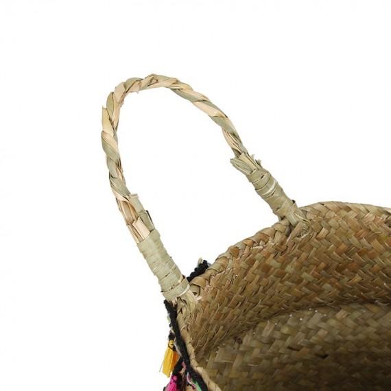 "Colored wicker ""Samba"" basket - 4"