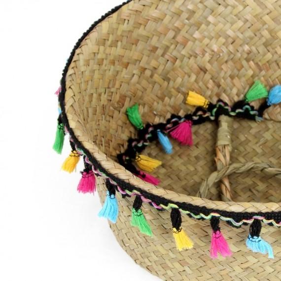 "Colored wicker ""Samba"" basket - 5"