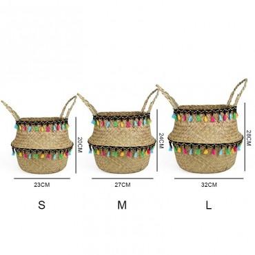 "Colored wicker ""Samba"" basket - 6"