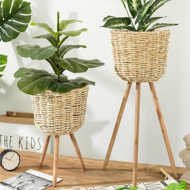cache pot panier sur pied. Black Bedroom Furniture Sets. Home Design Ideas