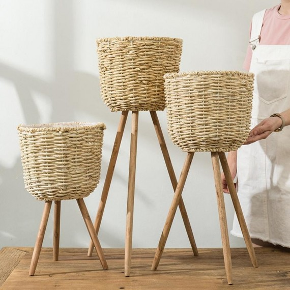 Basket pot on stand - 3