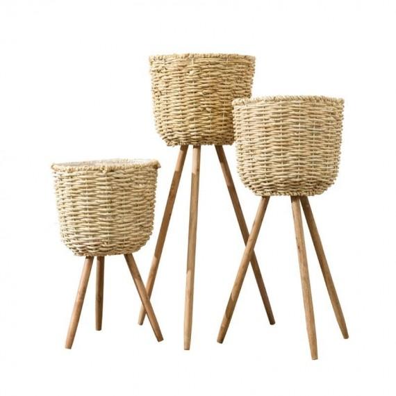 Basket pot on stand - 6